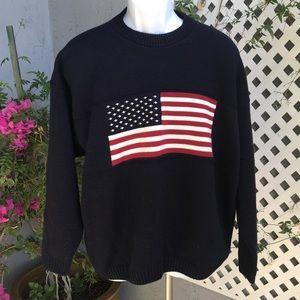 FADED GLORY Men's USA American Flag Sweater Sz XL